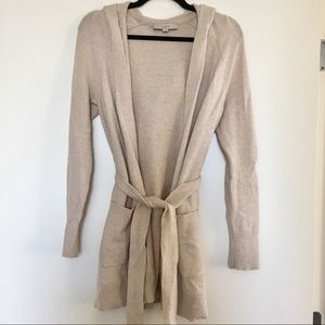 Cozy belted cardigan sweater